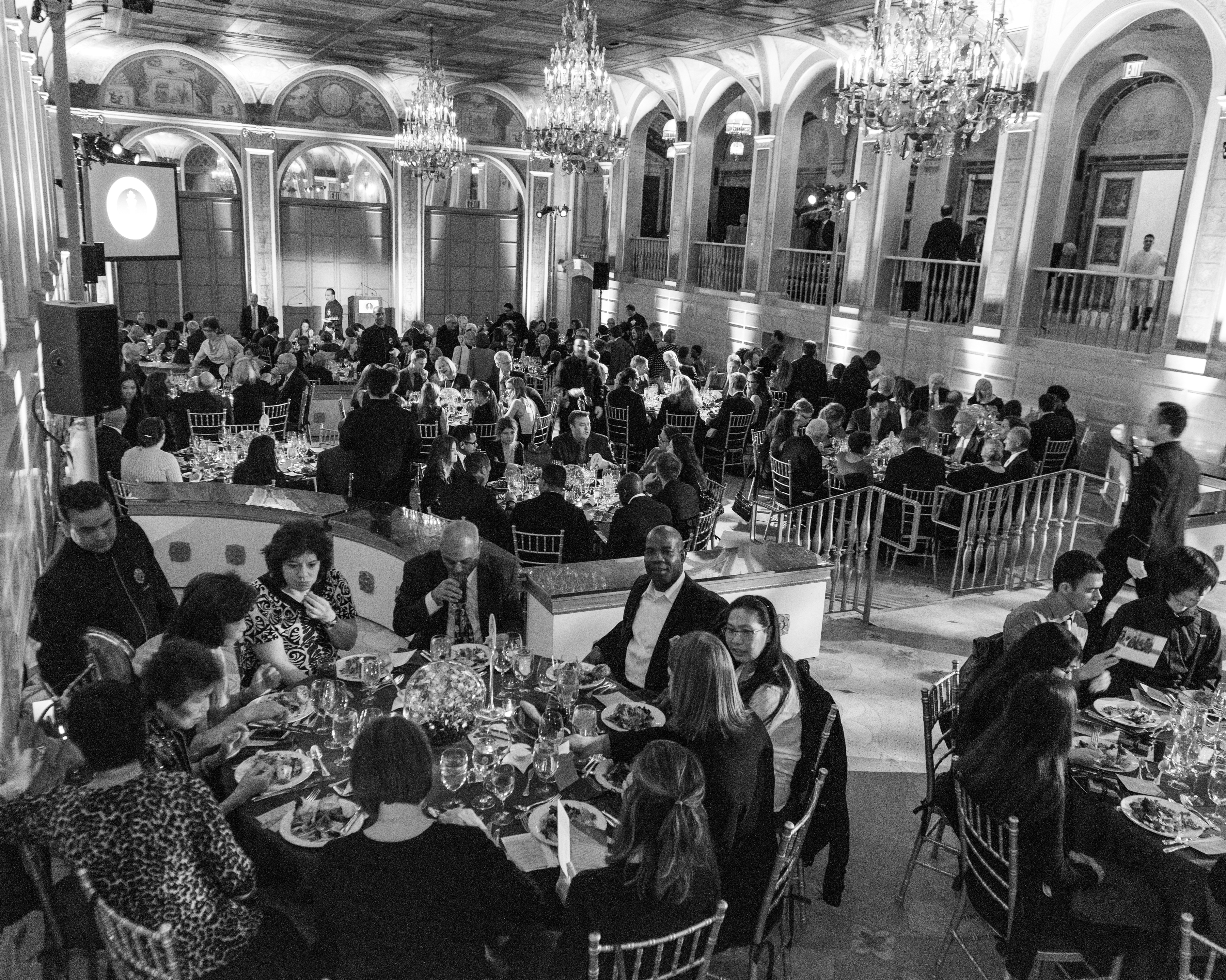 More than 200 guests enjoy great company over dinner.