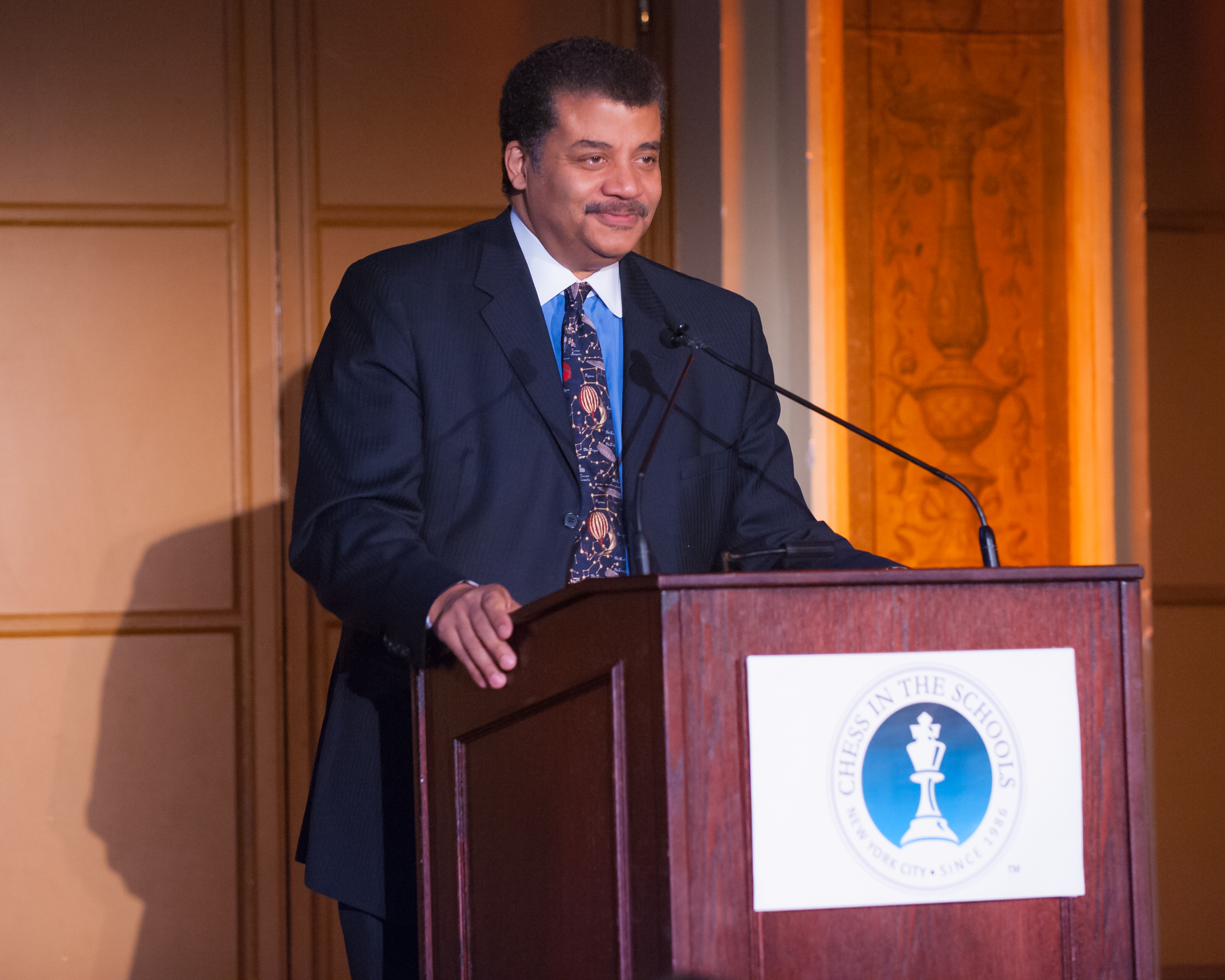 Dr. Neil deGrasse Tyson delivering an inspiring speech to our guests and 2015 Senior Class.