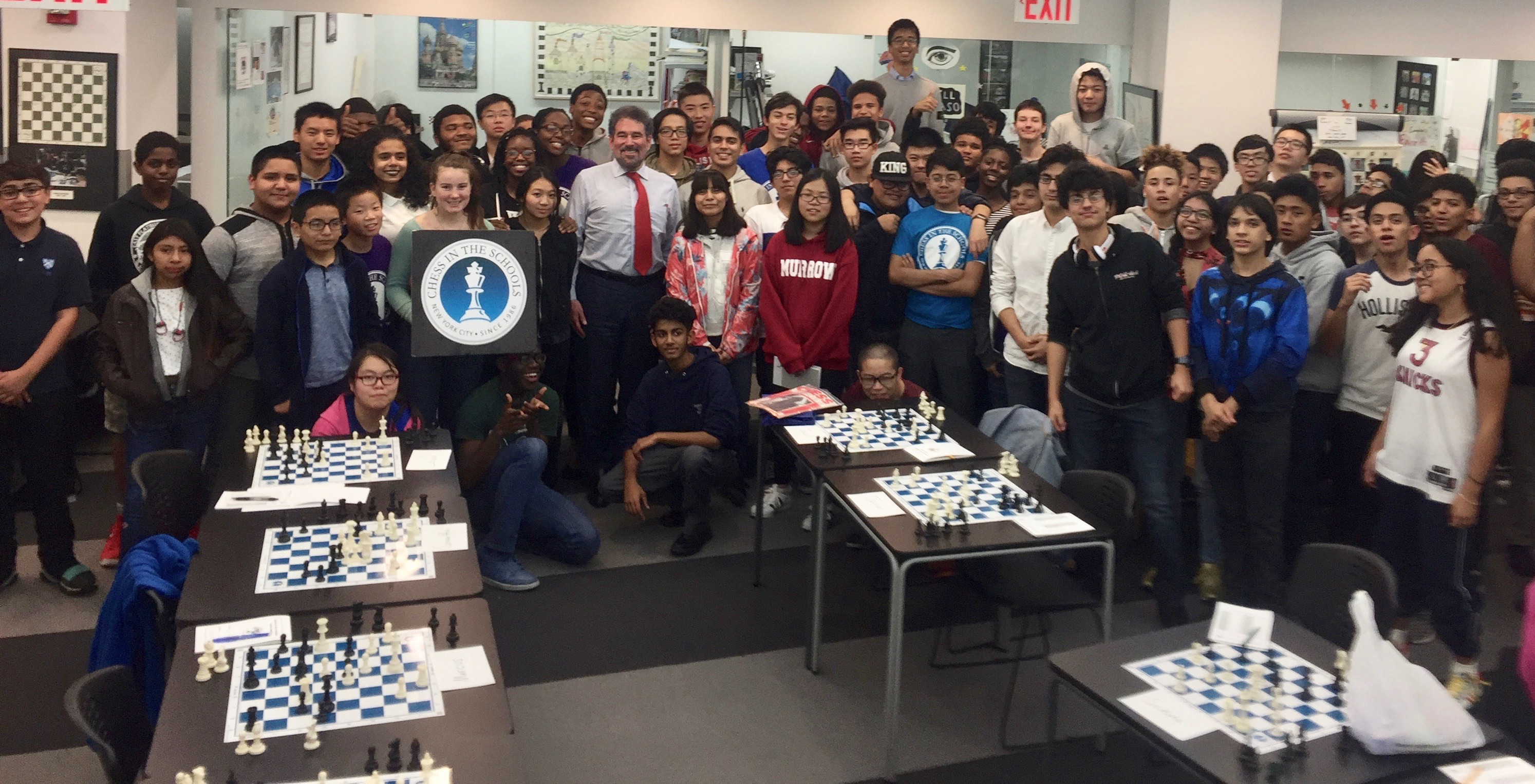 Image for NM Alan Trefler, CEO of Pegasystems visits Chess in the Schools
