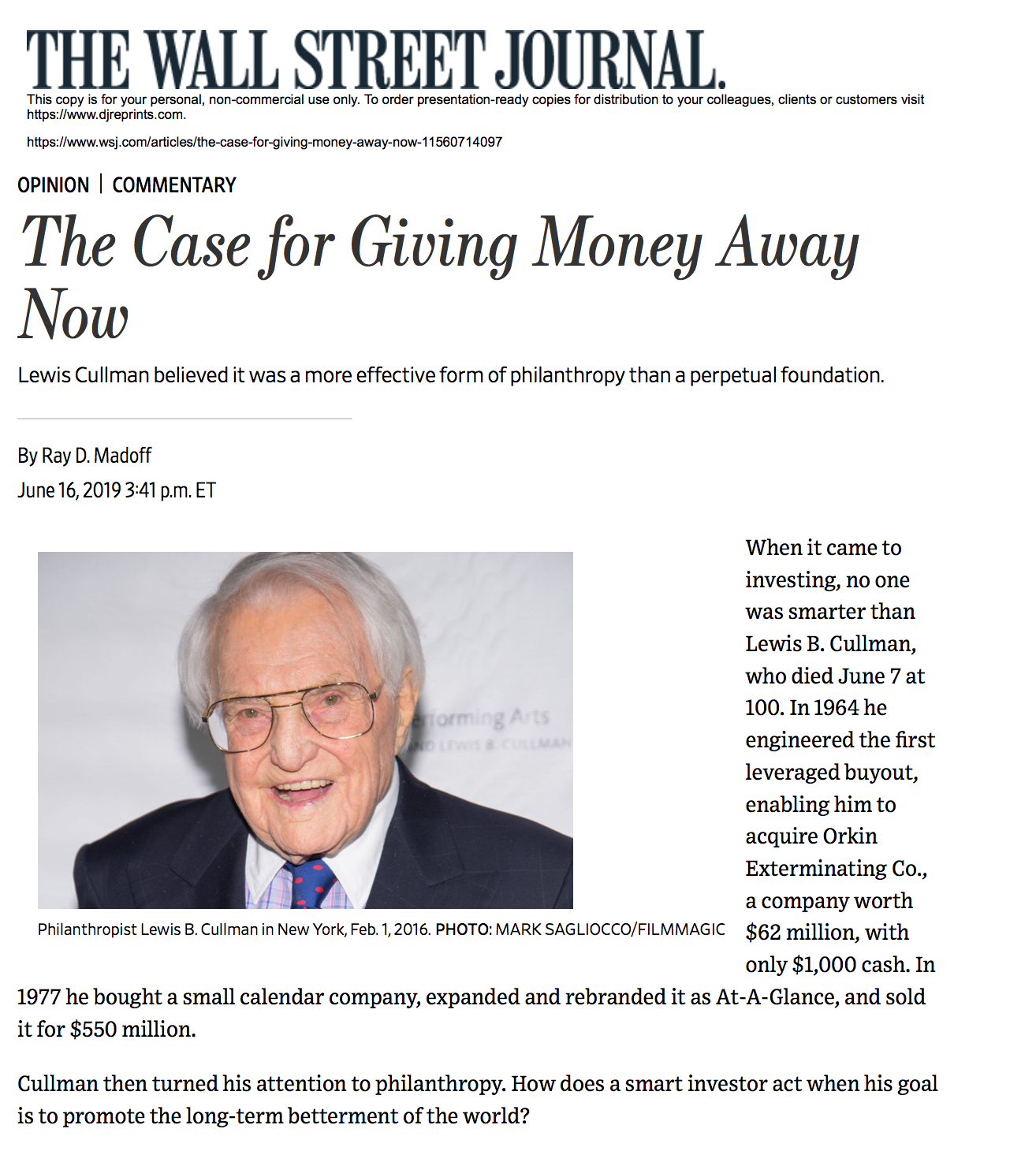 Image for The Case for Giving Money Away Now by Ray D. Madoff