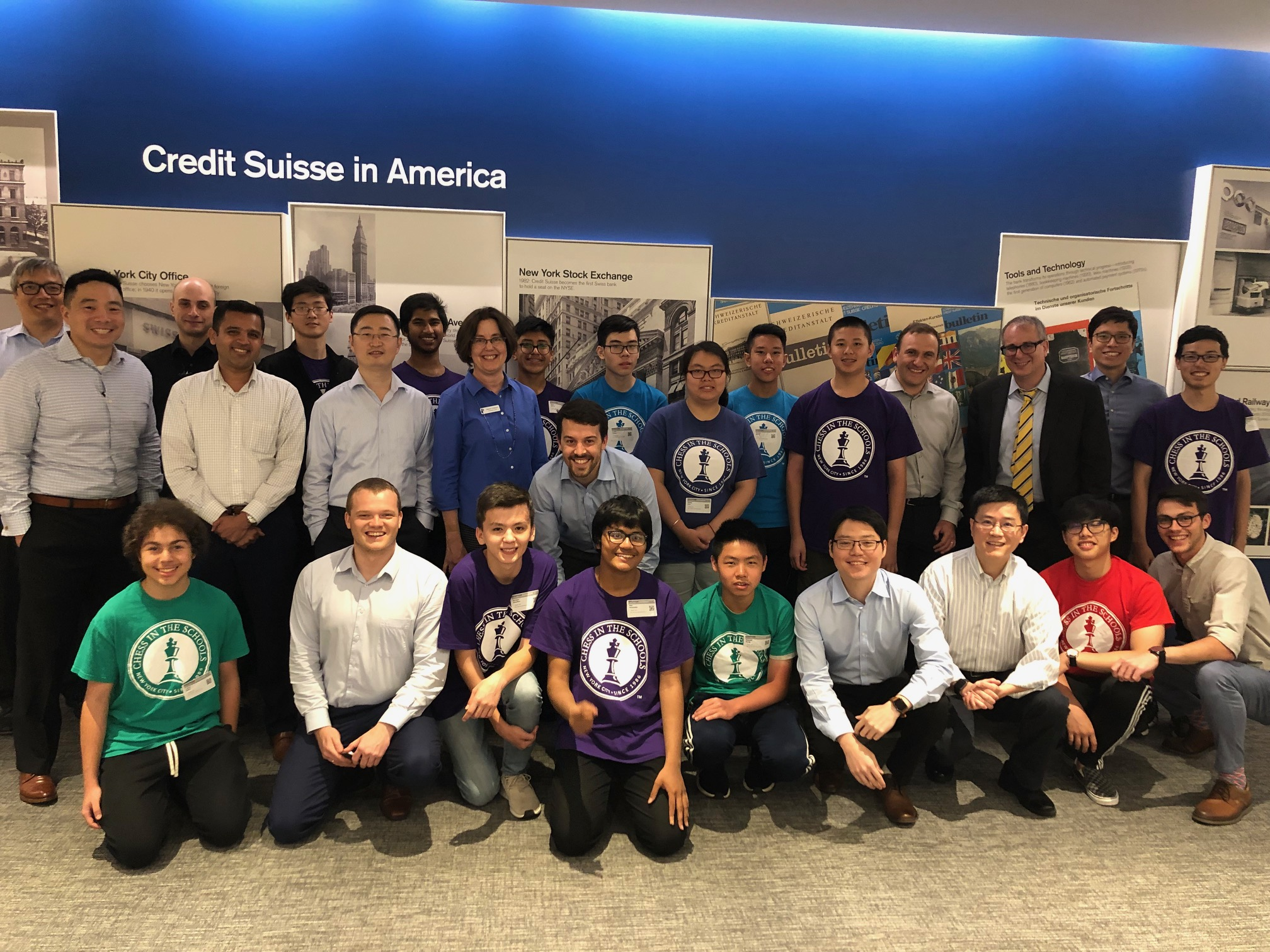 Image for College Bound Visits Credit Suisse for Chess Challenge