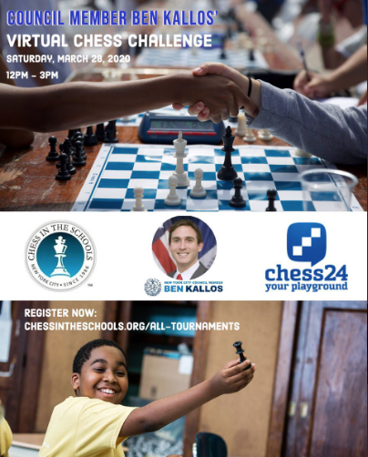 Image for 2020 CIS CM Ben Kallos Virtual Chess Challenge on CHESS24