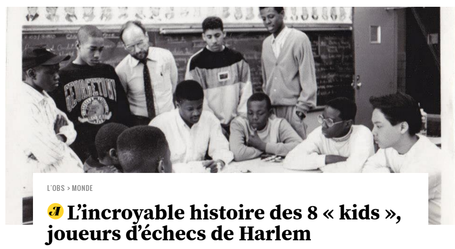 "Image for ""The Incredible Story of the 8 'Kids,' Harlem Chess Players"""